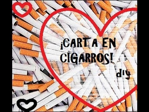 ¡Haz una carta en cigarros! Manualidades para san valentín.14 de febrero - DIY