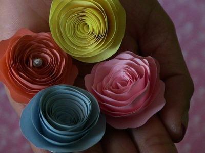 Como hacer Rosas de papel muy facil de hacer