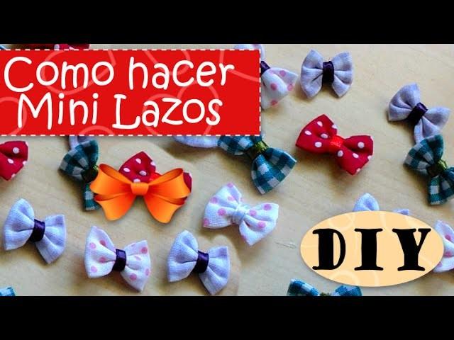 DIY: Como hacer Mini Lazos Perfectos - FÁCIL    ✂    Perfect Mini Bow - EASY  ✂