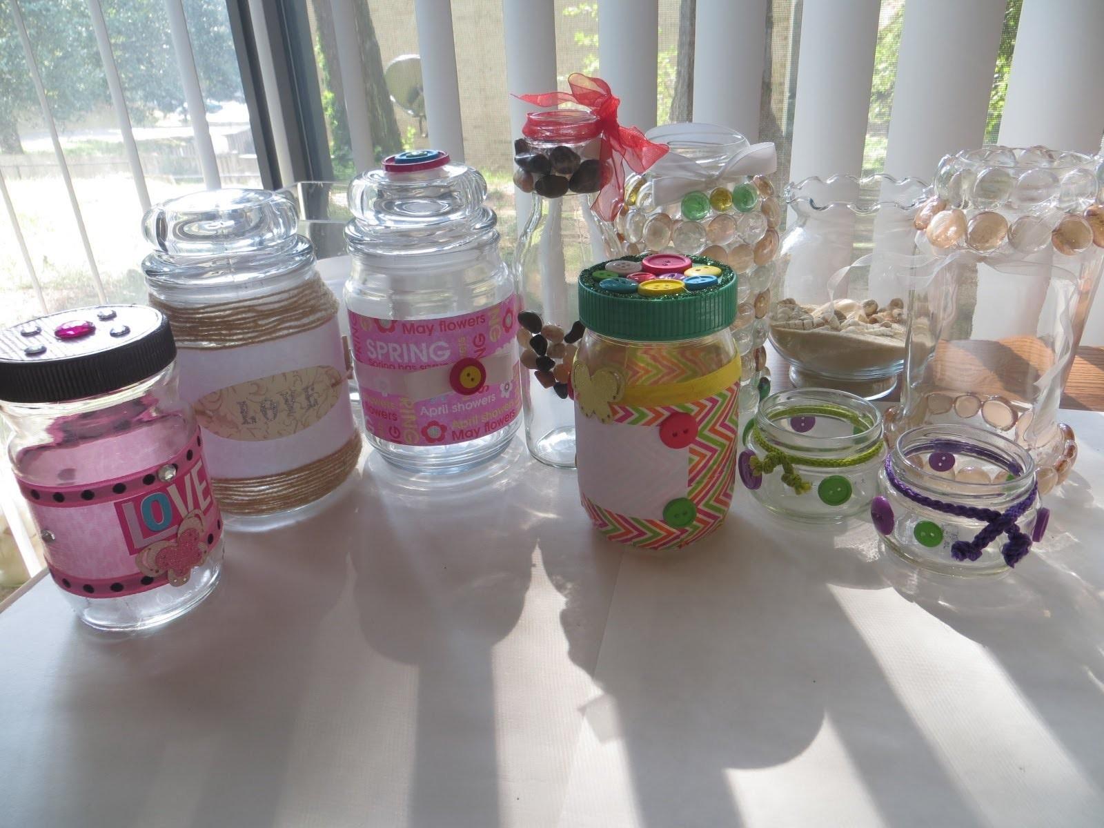 DIY: Ideas para decorar frascos y botellas de vidrio (reciclar)