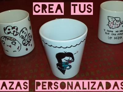 DIY REGALO Crea tus tazas personalizadas  (económicas, fáciles y bonitas)