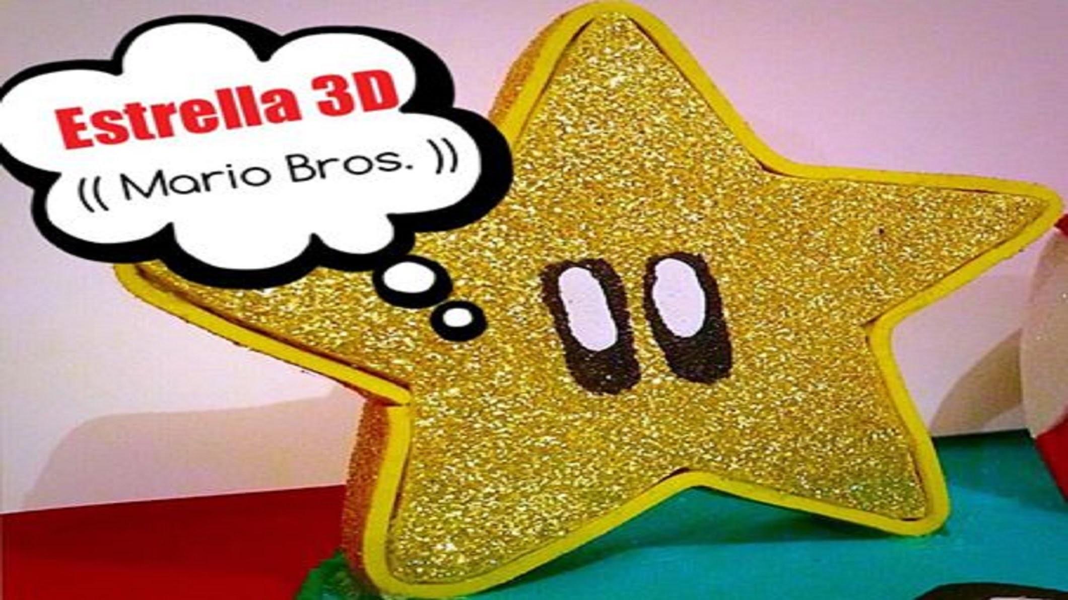 Estrella 3D (( Mario Bros. ))