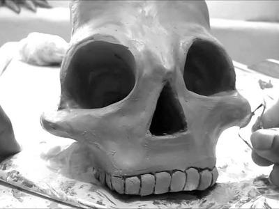 Modelado de arcilla para principiantes (haciendo un cráneo)