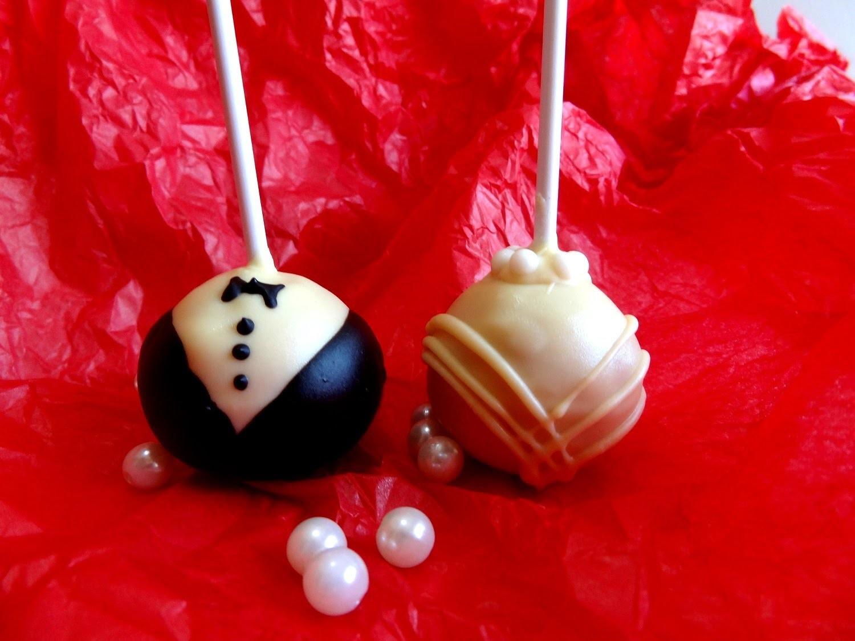 Receta: Cake Pops de fresa -- Estilo Boda (Wedding) -- bizcobolas