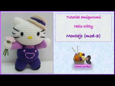 Tutorial amigurumi Hello Kitty - Montaje (mod-3)