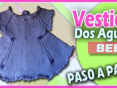 Vestido Para Bebe - Tejido en Dos Agujas (Paso a Paso)