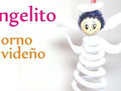 Manualidades para Navidad: ANGELITO de limpia pipas (Adornos Navideños) - DIY Innova Manualidades