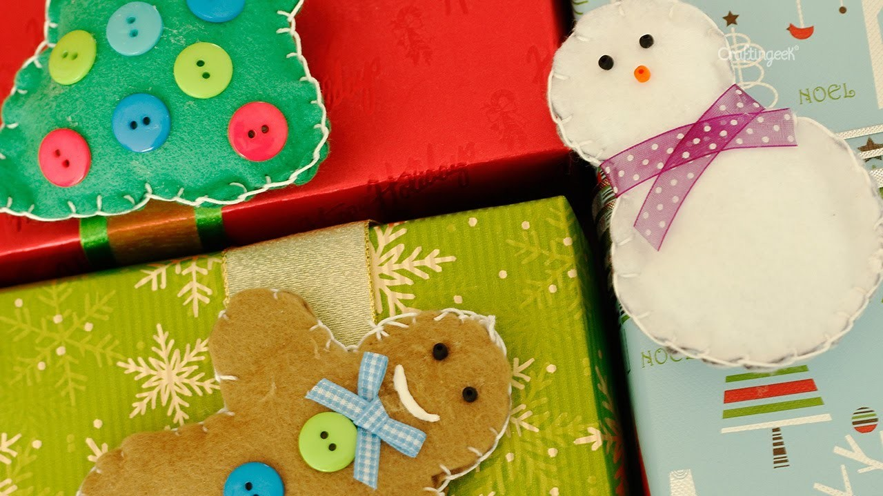 Monitos de fieltro: decora regalo y arbol de navidad