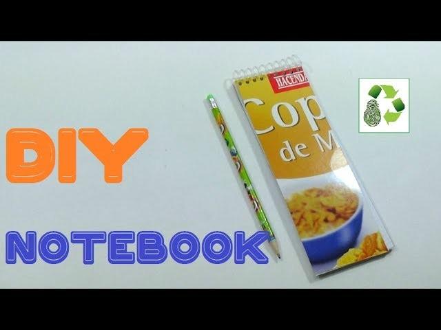 107. DIY LIBRETA (RECICLAJE DE PAPEL Y CAJA DE CARTON)