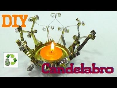 144. DIY CANDELABRO (RECICLAJE DE LATAS)