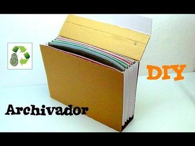 72. DIY ARCHIVADOR (RECICLAJE DE CAJA DE CARTÓN)