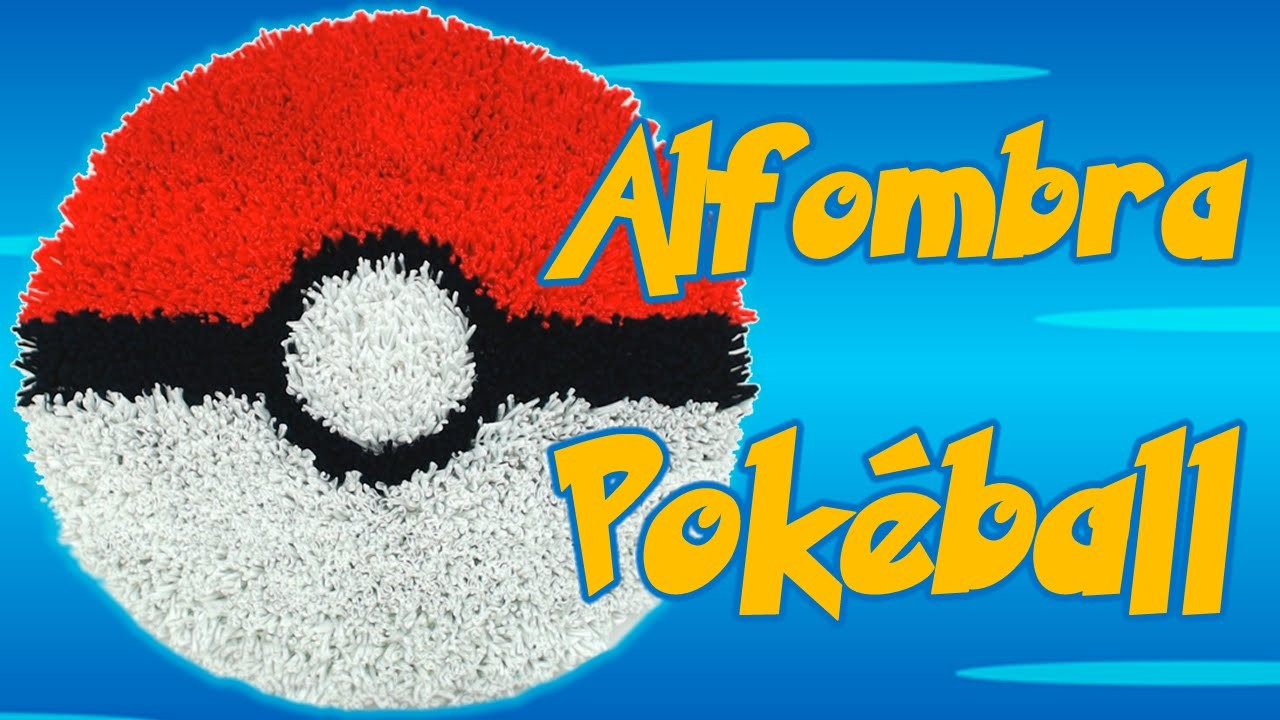 Alfombra Pokémon Pokéball, cómo se hace