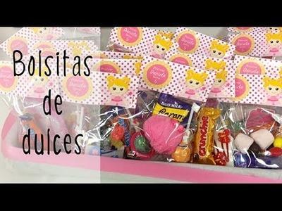 Bolsitas de dulces para fiestas infantiles