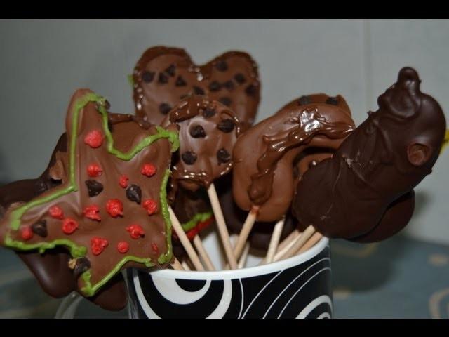 ¡Como hacer piruletas de chocolate! [Detalle para amigos]