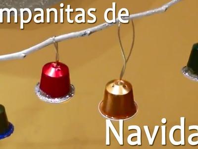 Campanas de Navidad con Capsulas Nespresso || Manualidades de Navidad