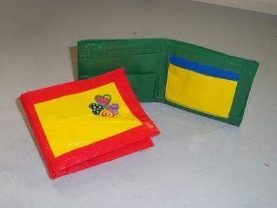 Cómo hacer billeteras con cinta adhesiva (pedido de 53ivette)