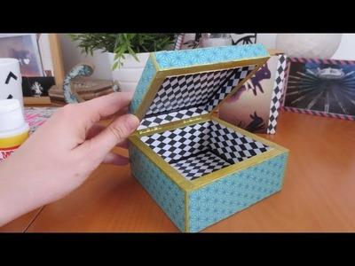 Cómo hacer decoupage: personaliza una caja con papel y mod podge