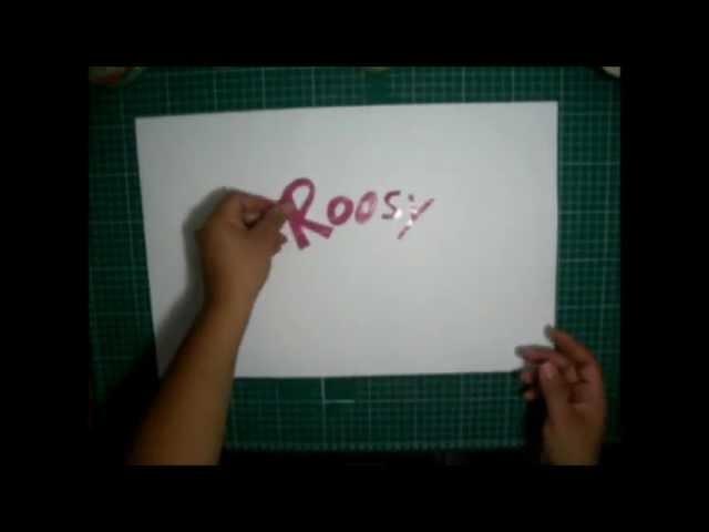 Como hacer letras de papel y acetato