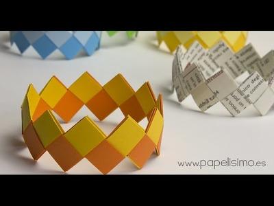 Cómo hacer pulseras de papel