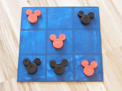 Como hacer un 3 en raya, y las piezas, en goma eva, juego de mesa. DIY