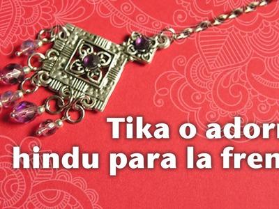 Cómo hacer una Tikka o adorno hindu para la cabeza