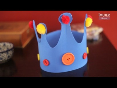 Coronas de goma eva para niños