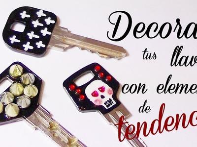 Decora tus llaves con elementos de moda  Otoño-Inv. 2012.'13