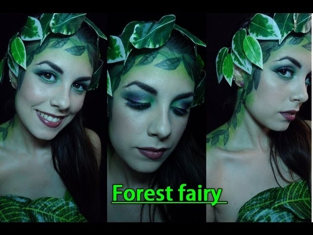 Disfraz de Hada del bosque!. Forest fairy makeup!