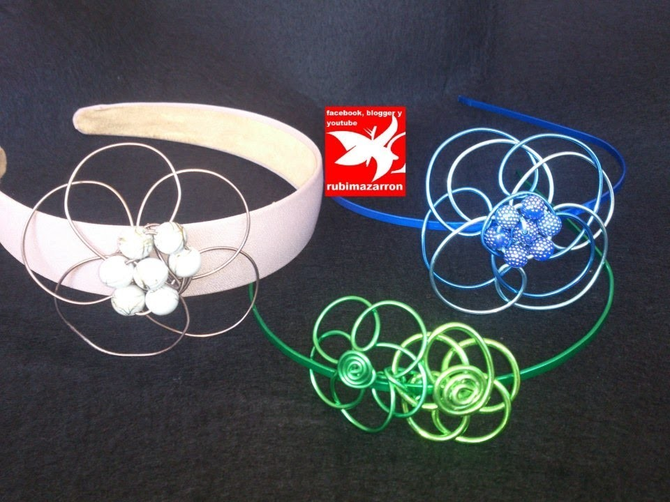 DIY. Diademas con flores de alambre