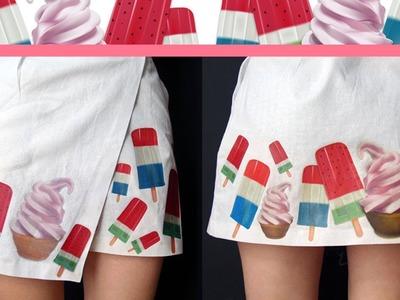 DIY: falda con ilustraciones vintage