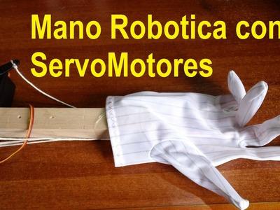 Mano Robotica Casera Automatizada (Facil de hacer)