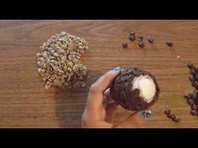 MANUALIDAD:  ESFERA DE GRANOS DE CAFE