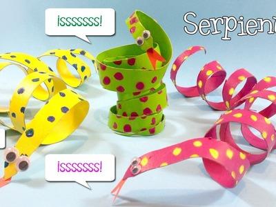 Manualidades con tubos de papel | Serpientes de cartón