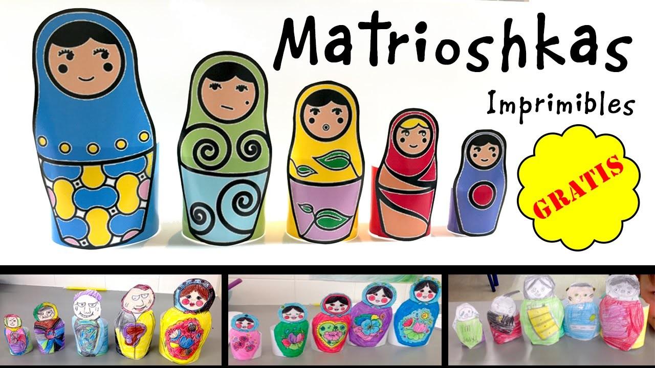 Matrioskas o muñecas rusas: Imprimibles GRATIS