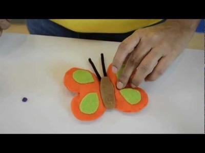 Merletto - Como hacer una Mariposa de Fieltro