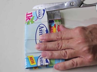 Reciclar un  brick de leche para hacer un monedero