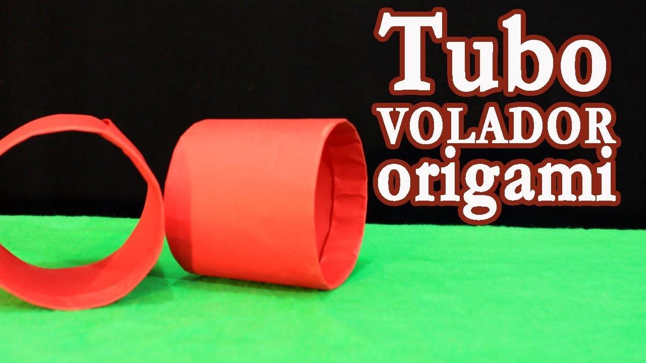 Tubo volador origami
