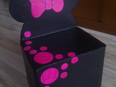 Tutorial 1 de silla de Minnie con cartón para niños Parte 1 de 2. Manualidades