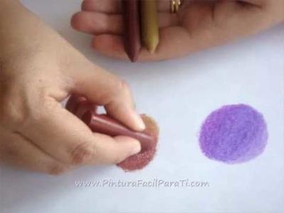 1-2 Pintar y Difuminar Tecnica de Ceras - Pintura Facil Para Ti.com wmv