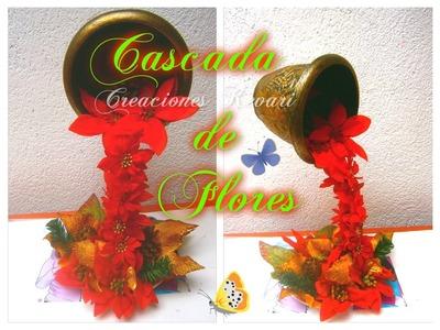 Cascada de Flores Centro de Mesa Quince-años, Bodas, Navidad,Primera comunión