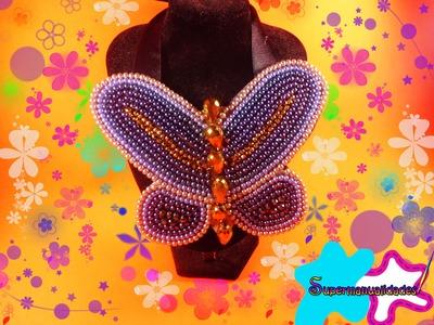 Collar de mariposa ((fácil y muy bonito)) εїзSUPERMANUALIDADESεїз