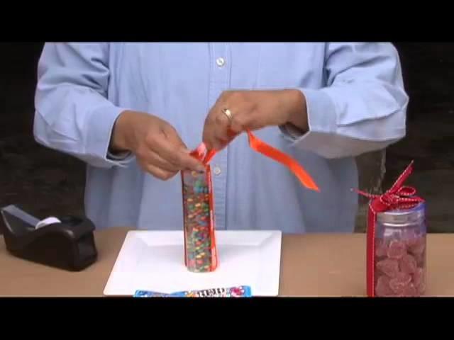 Como acomodar chocolates de colores (M&M's) para una mesa de dulces