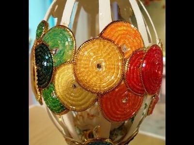 Como hacer beading - Arte Realeggza - Reloj de colores