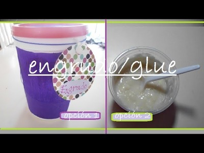 Cómo hacer engrudo de 2 formas sencillas. how to make glue 2 simple ways