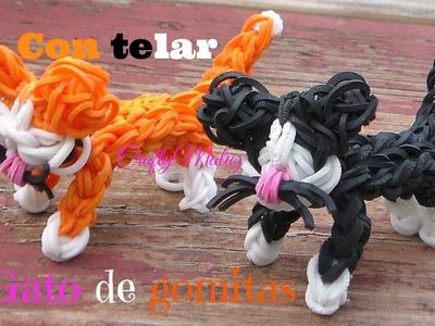 COMO HACER UN GATO CON GOMITAS O (LIGAS) CON TELAR PARTE (1)