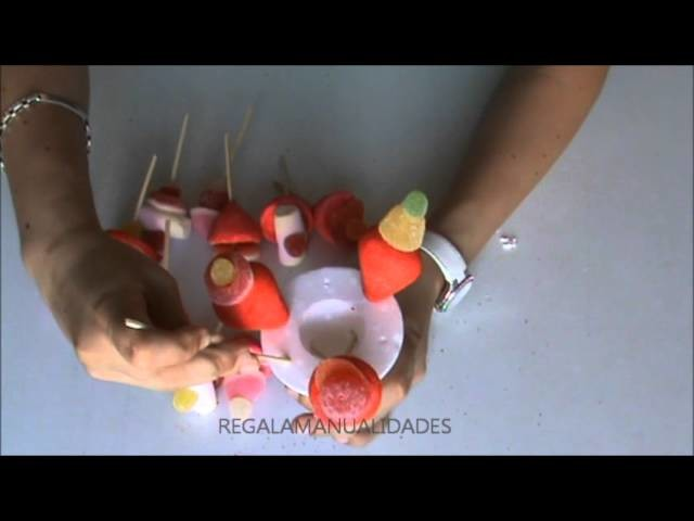 Cómo hacer un ramo de golosinas (How to do make a candy bouquet)