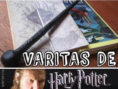¿CÓMO HACER VARITAS DE HARRY POTTER? (FÁCIL) | Canal 9 ¾ | ManualiMág⚡