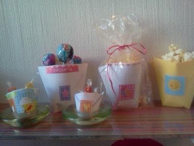 Cómo hacer vasitos de papel para regalar!?