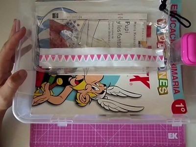 Cómo organizar material escolar. Craft tip.