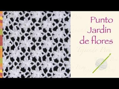 Crochet paso a paso: bello punto jardín de flores! Incluye diagrama ;)